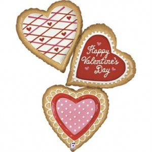 Balão Valentine Cookies Trio 112cm Grabo