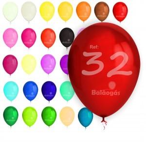 """100 Balões Pastel 12""""/32cm"""