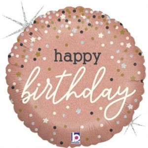 Balão Foil Happy Birthday Confetti 46Cm Grabo