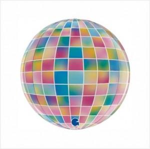 Balão Foil Globo 4D Discoteca 38cm