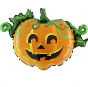 Balão Abobora Pendurar Halloween Foil 43cm