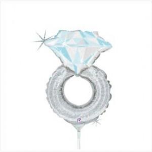 Balão Anel Casamento 35cm