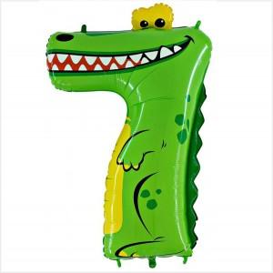 Balão Número 7 Crocodilo Gigante