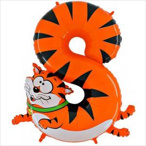 Balão Número 8 Gato Gigante