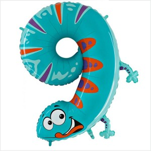 Balão Número 9 Lagartixa Gigante