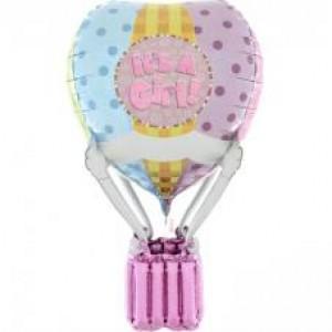 Balão de Ar Quente 3D It`s a Girl 91cm Holographic