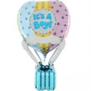 Balão de Ar Quente 3D It`s a Boy 91cm Holographic