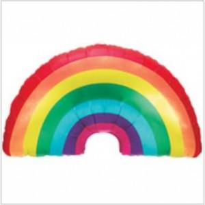 Balão Foil Arco Iris 91Cm