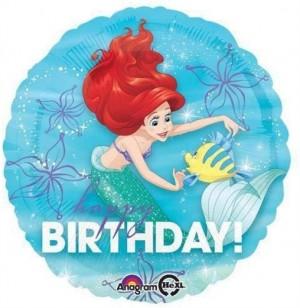 Balão Redondo Ariel Birthday 43cm