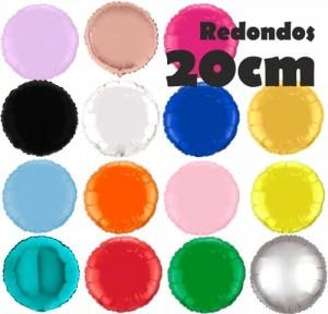 Balões Redondos Foil 20cm