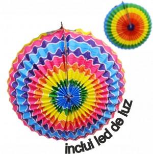 Balão de S. João 30cm OVAL Inclui Luz Led