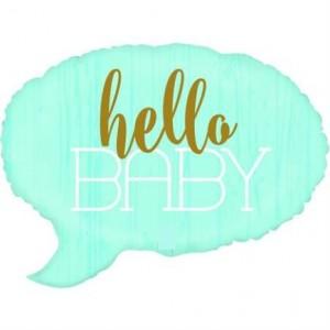 Balão de fala azul Hello Baby 61cm