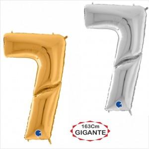 """Balão foil Numero 7 Gigante 64""""/163cm"""