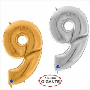 """Balão foil Numero 9 Gigante 64""""/163cm"""
