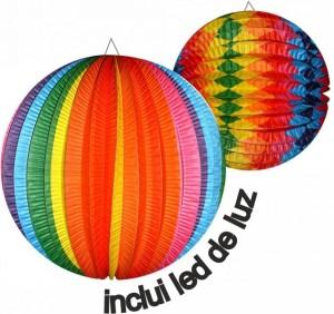 Balão de S. João 25cm Inclui Luz Led