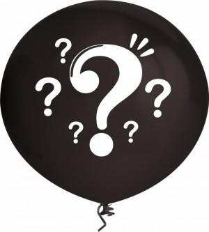 """2 Balões Revelação esféricos de 16""""40cm"""