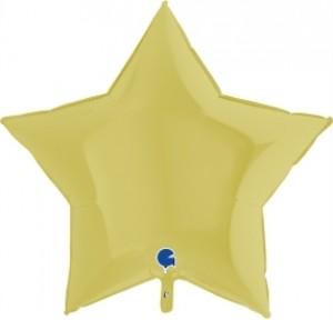 Balão Estrela Mate 46cm Amarela