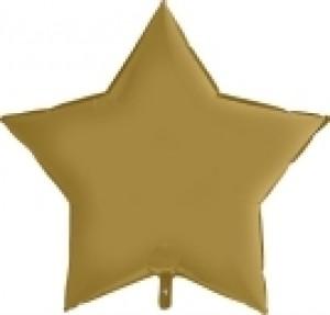 Balão Estrela Cetim 46cm Ouro