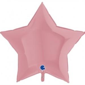 Balão Estrela Mate 46cm Rosa