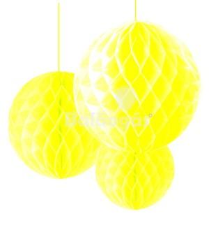 Balão de Papel em Favos Amarelo