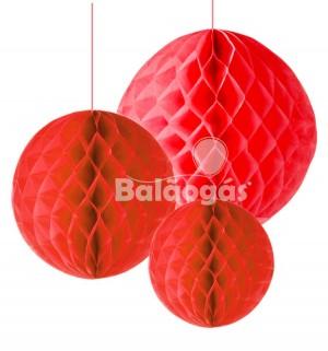 Balão de Papel em Favos Vermelho