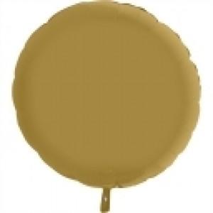 Balão Redondo Cetim 46cm Ouro