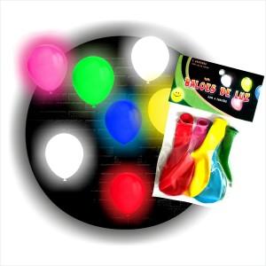 5 Balões Luz com 4 funções