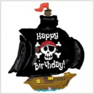 Balão foil Barco Pirata 117cm Grabo