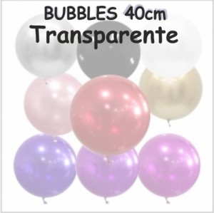 Balões Bubble Coloridos 40cm Transparente