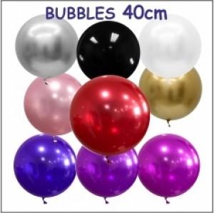 Balões Bubble Coloridos 40cm (Cromado)