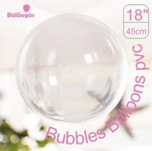 5 Balões Bubble Transparente Cristal 45cm