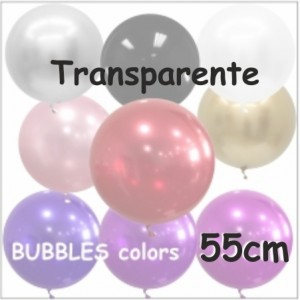 Balões Bubble Coloridos 55cm Transparente