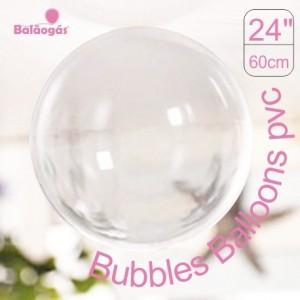 5 Balões Bubble Transparente Cristal 60cm
