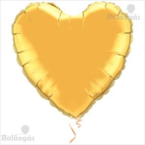 Coração Foil 45cm Dourado