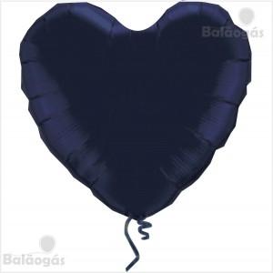 Coração Foil 45cm Preto