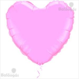 Coração Foil 45cm Rosa