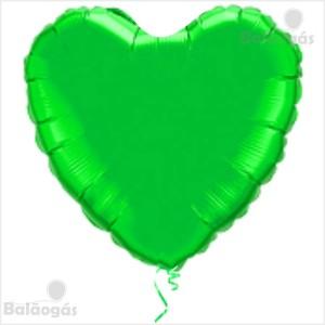 Coração Foil 45cm Verde