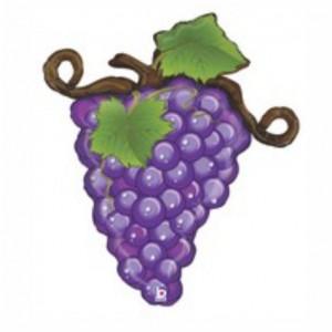Balão foil Cacho Uvas Purpura