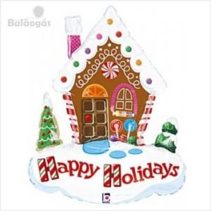 Balão foil Casa de Natal 86Cm