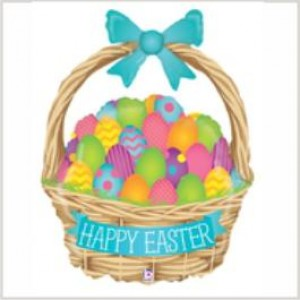 Balão foil Cesta Happy Easter 99cm Grabo