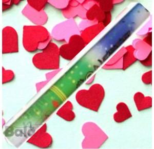 Confétis Corações Metalizados de Qualidade (tubo 35cm)