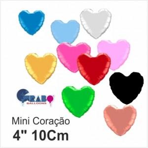 """10 Balões Coração de 4""""10cm Grabo"""