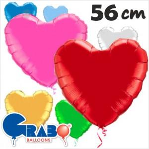 """Coração Foil 22""""/56cm Grabo"""