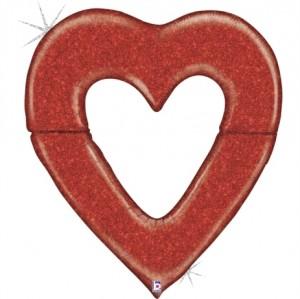 Coração Gigante Glitter 150cm Grabo