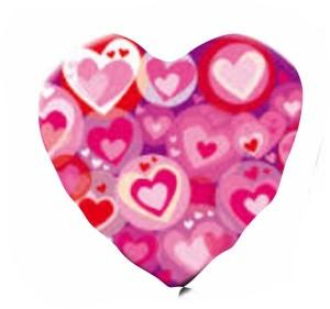 Coração Foil 40cm Ref: Multi