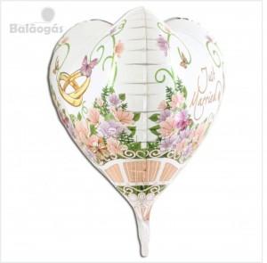 Balão Foil Coração 3D 58cm R.73010