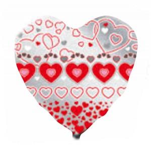Coração Foil 40cm Ref: Metalico