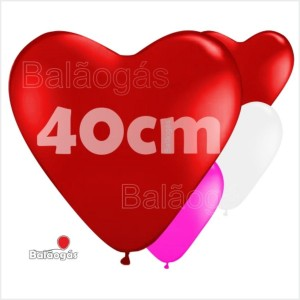 10 Balões Coração 40cm