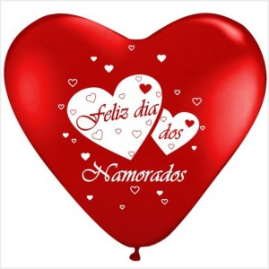 10 Balões Coração Feliz dia dos Namorados
