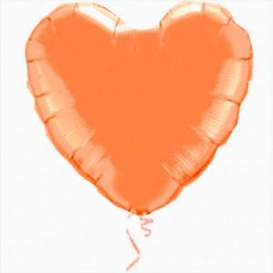 Coração Foil 45cm Laranja